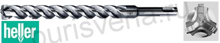 Бур по железобетону Heller Trijet, SDS-plus, 5х50х110мм