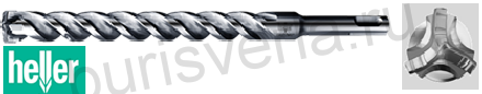Бур по железобетону Heller Trijet, SDS-plus, 6х100х160мм